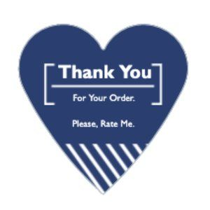 Other - Thank You Stickers 60 Heart Labels 1 1/2  Purchase